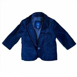 Gap Boys Black Velvet Lined Blazer W/Pockets